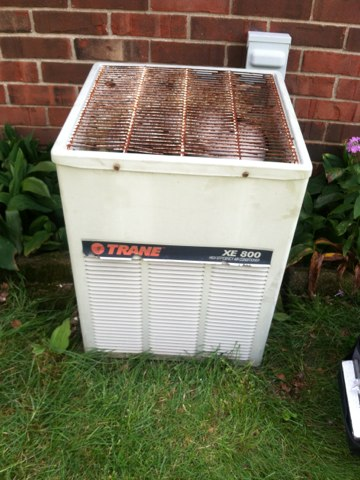 Indianapolis, IN - Repairing and servicing a Trane air conditioner
