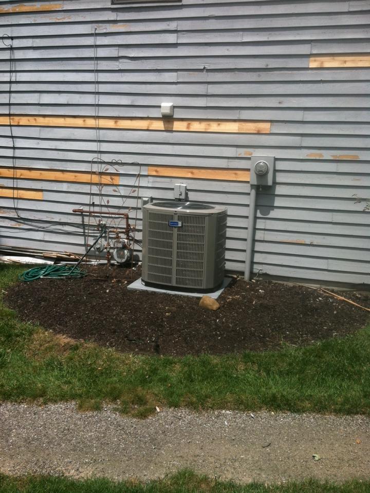 Zionsville, IN - Installed new a/c