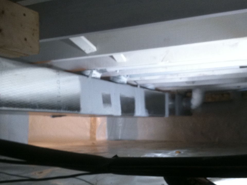 Brownsburg, IN - Replaced water damaged ductwork in crawl. Bassett Services