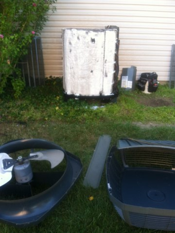 Avon, IN - Cleaning a Trane air conditioner