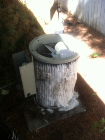 Plainfield, IN - Cleaning a Carrier air conditioner
