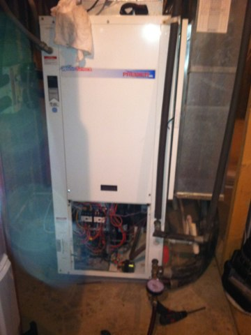 Jamestown, IN - Repairing and servicing a Waterfurnace  air conditioner