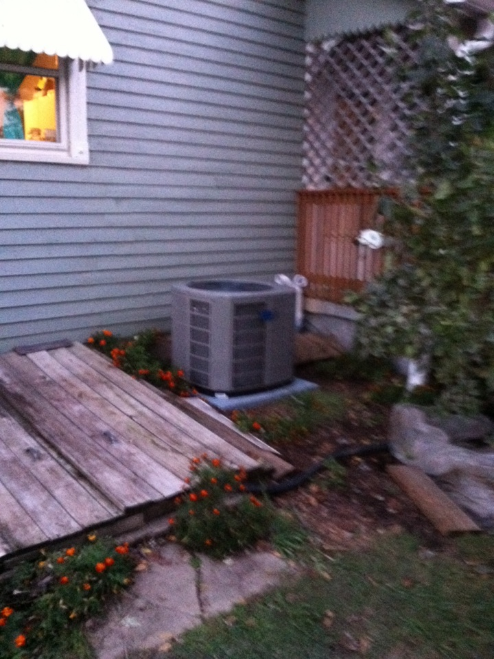 Fillmore, IN - Installed new a/c