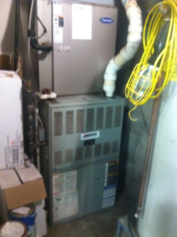 Camby, IN - Repairing and servicing a Trane gas furnace