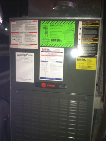 Pittsboro, IN - Repairing and servicing a Trane gas furnace