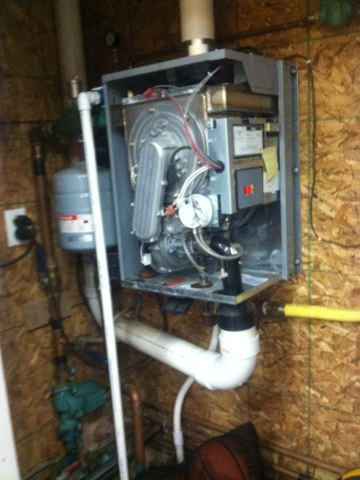 Lizton, IN - Repairing and servicing a Trinity  gas furnace boiler