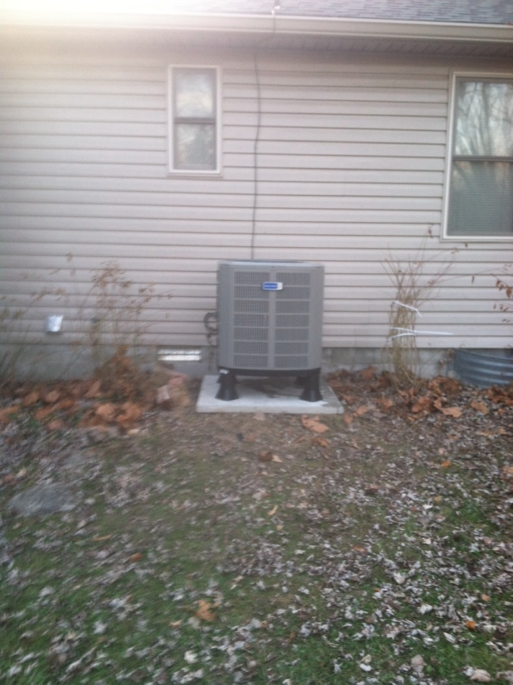 Fillmore, IN - Installed air handler heatpump and water heater