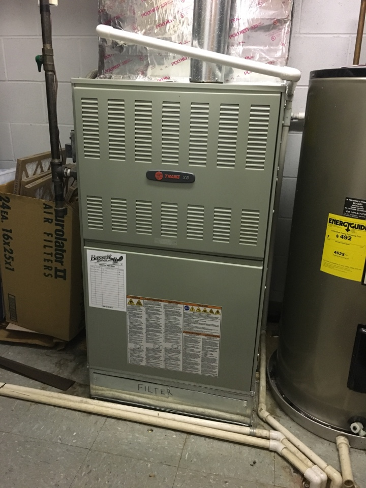 Fishers, IN - Annual heating tune up on Trane gas furnace.
