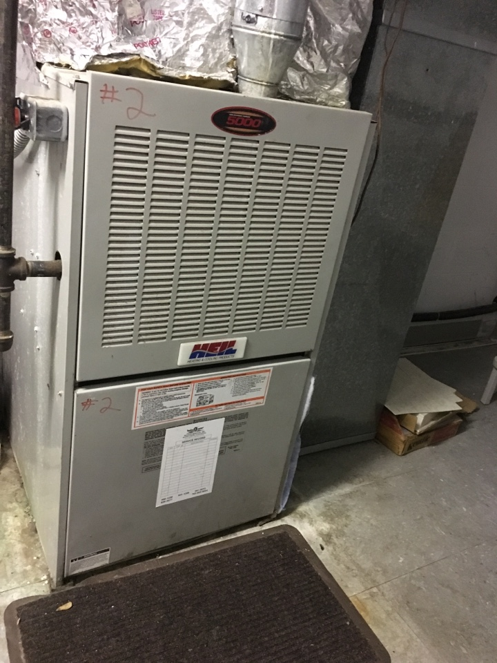 Fishers, IN - Annual heating tune up on Heil gas furnace.