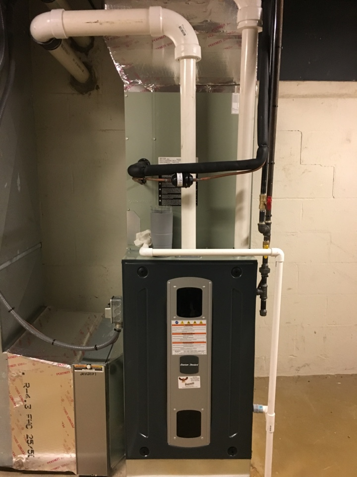 Zionsville, IN - Service call repair on American Standard gas furnace.