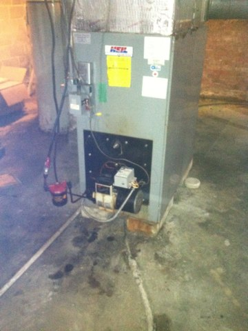 Stilesville, IN - Repairing and servicing a Oil furnace
