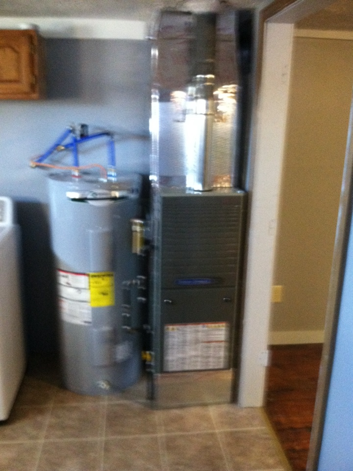 Morgantown, IN - Installed new furnace