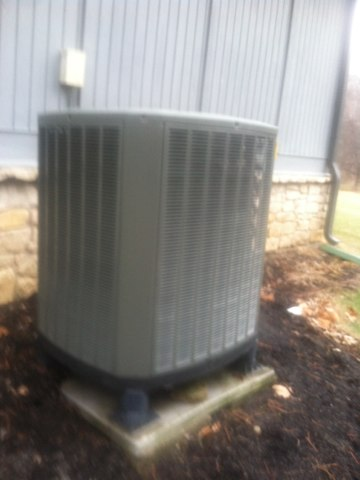 Carmel, IN - Repairing and servicing a Trane heat pump furnace