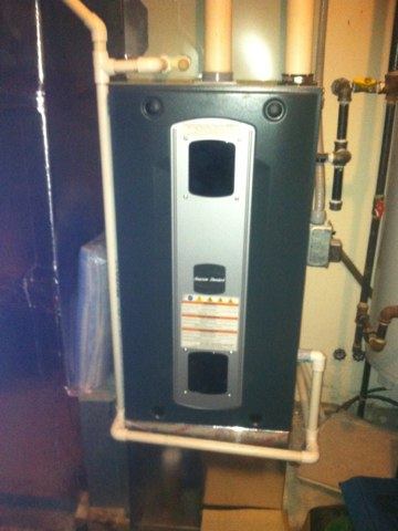 Cloverdale, IN - Repairing and servicing a American Standard gas furnace