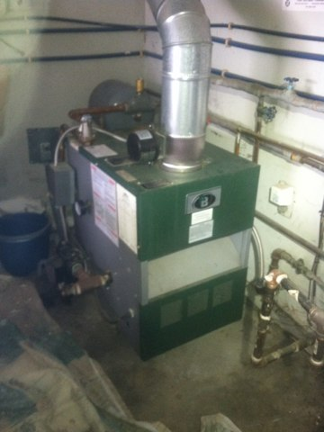 Martinsville, IN - Repairing and servicing a P&B boiler gas furnace