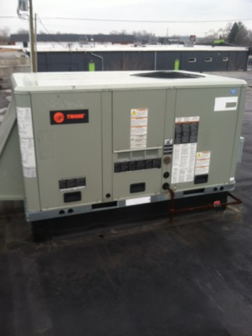 Brownsburg, IN - Repairing and servicing a Trane gas furnace