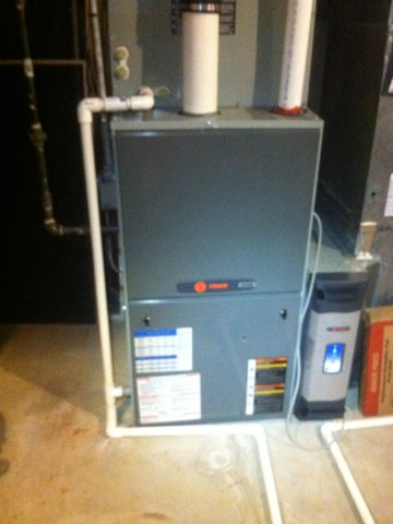 Carmel, IN - Repairing and servicing a Trane gas furnace