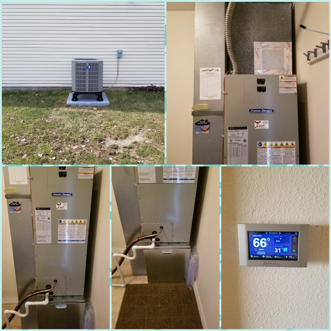 Indianapolis, IN - Installed American standard heat pump and air handler