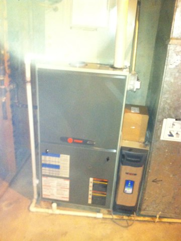 Indianapolis, IN - Repairing and servicing a Trane gas furnace