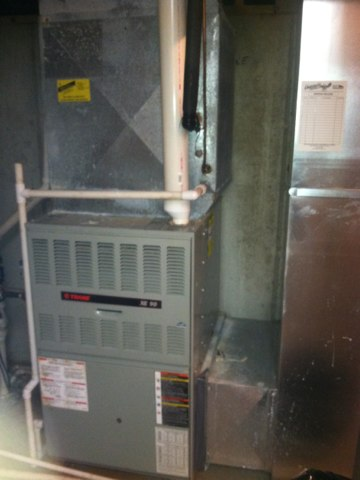 Fishers, IN - Repairing and servicing a Trane gas furnace