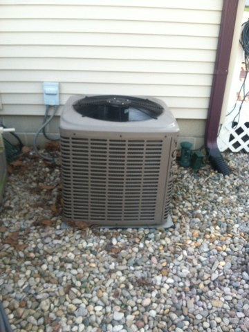 Martinsville, IN - Servicing and repairing a York air conditioner