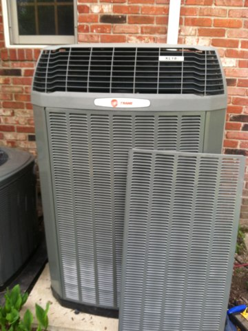 Danville, IN - Servicing and repairing a Trane air conditioner
