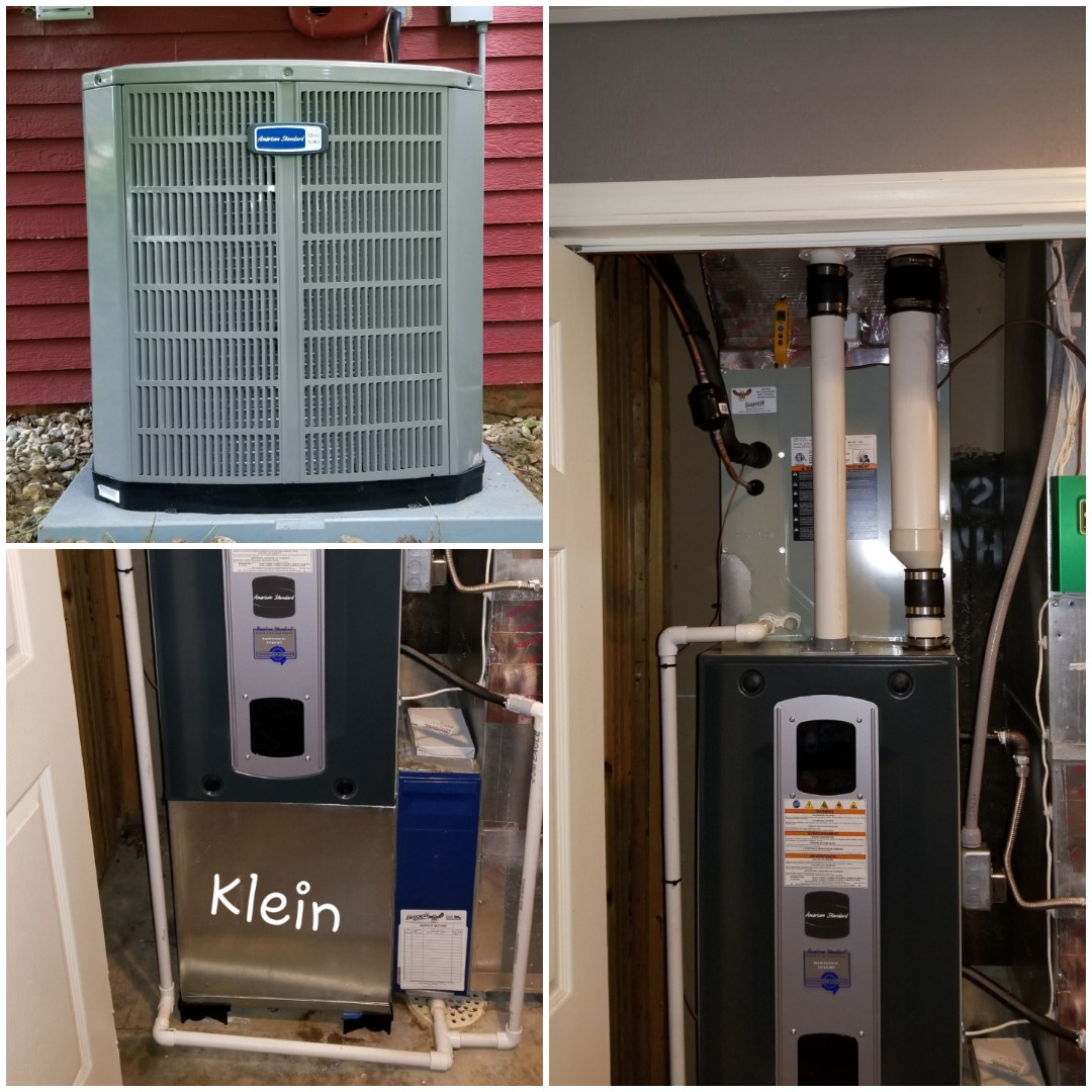 Martinsville, IN - Installed American standard 90% furnace ac and coil