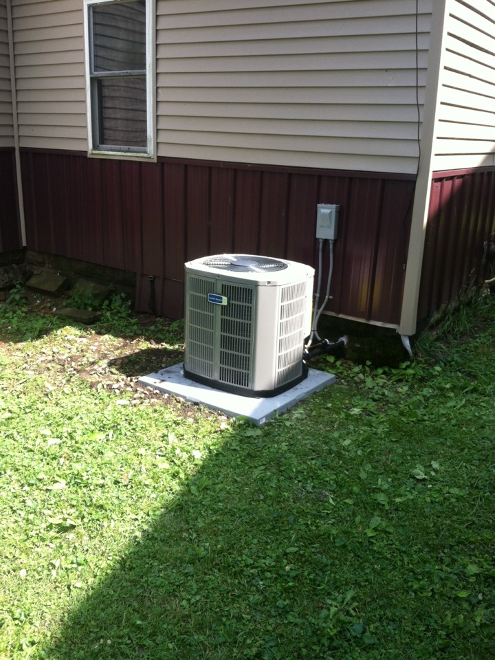 Coatesville, IN - Installed new a/c
