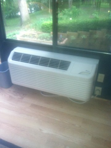 Clayton, IN - Making repairs on a Amana air conditioner