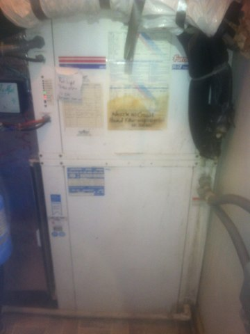 Mooresville, IN - Making repairs on a Waterfurnace air conditioner heat pump