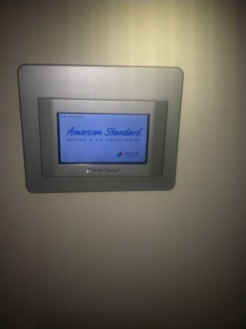Plainfield, IN - Making repairs on a American Standard thermostat