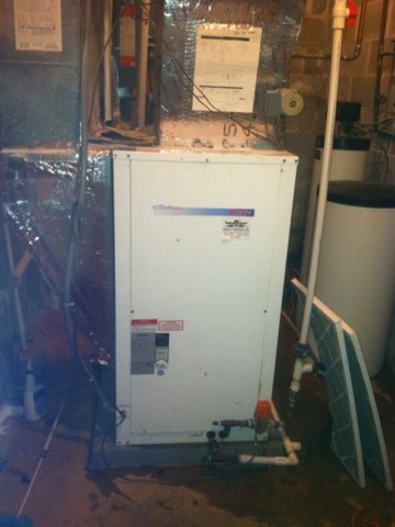 Coatesville, IN - Working on a Waterfurnace geothermal  heat pump
