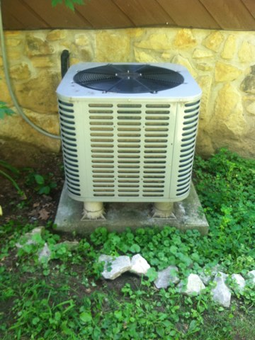 Martinsville, IN - Working on a Trane air conditioner
