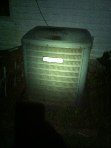 Greencastle, IN - Working on a Goodman air conditioner