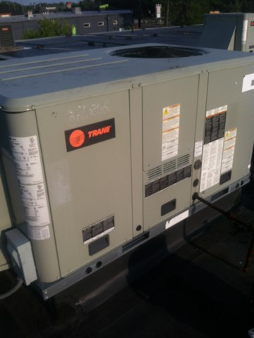 Brownsburg, IN - Working on a Trane air conditioner