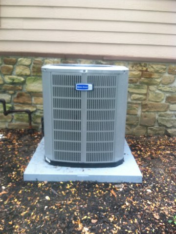 Greenwood, IN - Installing a new American Standard A/C