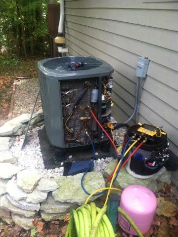 Coatesville, IN - Repairing a Trane air conditioner heat pump
