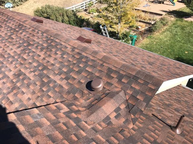Brighton, CO - Residential roof replacement using Hickory GAF Timberline HD shingles in Brighton, Colorado.