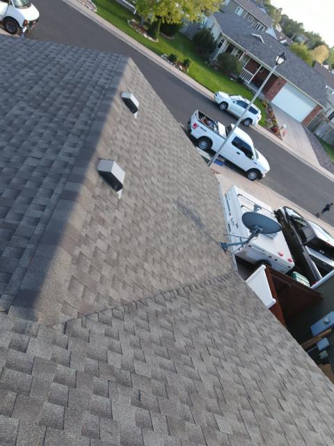 Longmont, CO - Residential roof replacement using Birchwood GAF Timberline HD shingles in Longmont, Colorado.