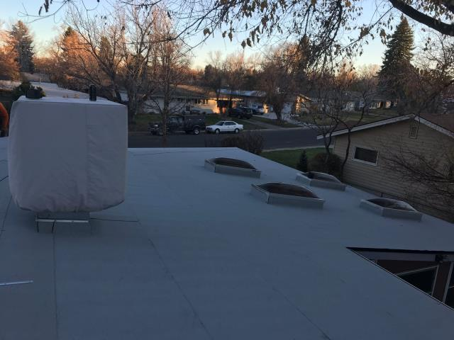 Denver, CO - Residential flat roof replacement using Mulehide in Denver, Colorado.