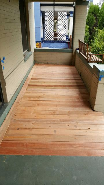 Denver, CO - Residential wood patio project in Denver, Colorado.