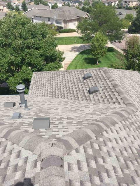 Castle Rock, CO - Residential roof replacement using Weathered Wood GAF Armorsheild II shingles in Castle Rock, Colorado.