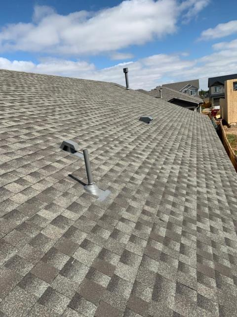 Frederick, CO - Residential roof replacement using Weathered Wood GAF Timberline HD shingles in Frederick, Colorado.