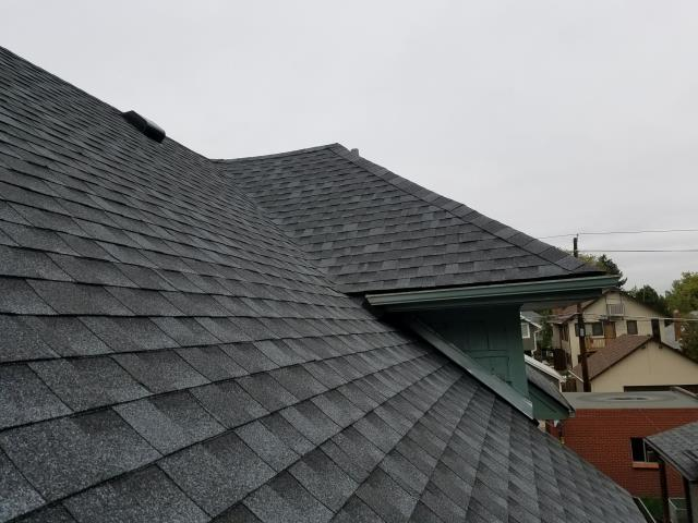 Denver, CO - Residential roof replacement using Pewter Gray GAF Timberline HD shingles in Denver, Colorado.