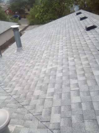 Dupont, CO - Residential roof replacement using Birchwood GAF Timberline HD shingles in Commerce City, Colorado.