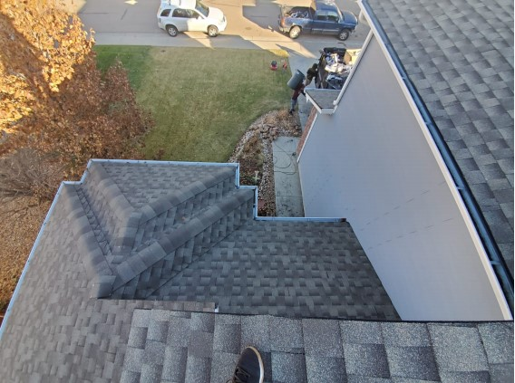 Longmont, CO - Residential roof replacement using Weathered Wood GAF Timberline HD shingles in Longmont, Colorado.
