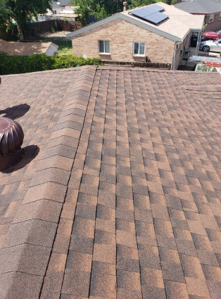 Denver, CO - Residential roof replacement using Hickory GAF Timberline HD shingles in Denver, Colorado.