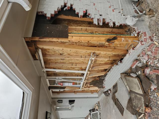 Westminster, CO - When this customer in Westminster had a car go through the front of their rental home, they gave us a call to get everything fixed back up. We understand how important it is to get things done in a timely manner, that's why this customer called us.