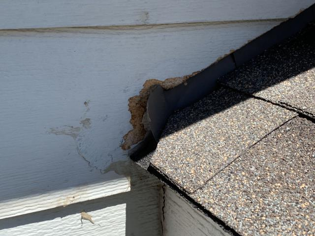 Thornton, CO - When this longtime customer in Thornton had a raccoon eat its way into her attic, we got out there right away (well, after a pest company got Mr. Raccoon out) and got the repairs done to her home to make sure she didn't get any more unwanted tenants.