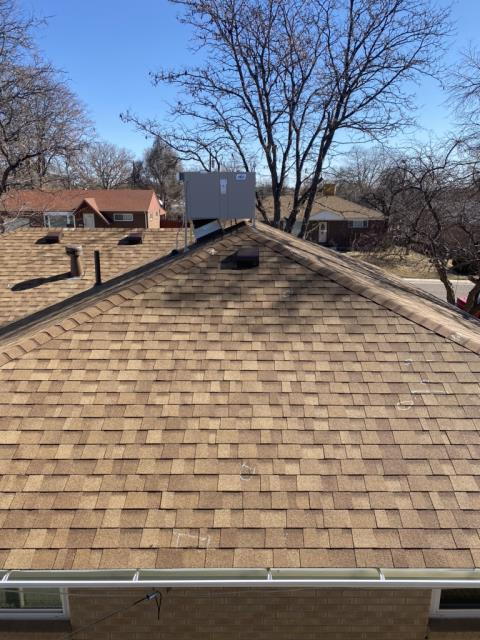 Northglenn, CO - We stand by our work! This day was spent doing quality control checks to make sure that the roofs we install are the best in the business. This homeowner in Northglenn can rest assured their home is protected!